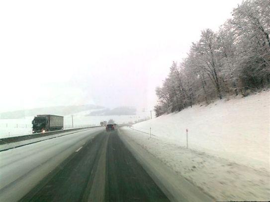 Winter auf Frankreichs Autobahnen