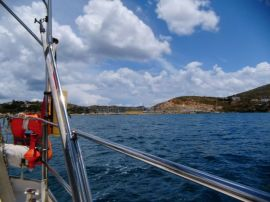 letzter Blick auf Leros Marina
