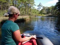 Paddeln im Amazon Creek