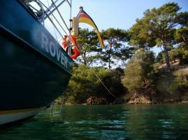 long line ashore