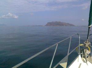 Anflug auf Favignana