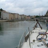 Einfahrt nach Lyon