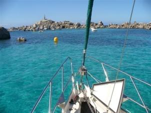 Ankern vor der Isla Lavezzi