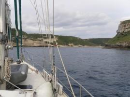 Einfahrt nach Bonifacio