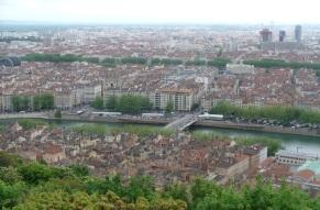 Lyon mit Rhone und Saone