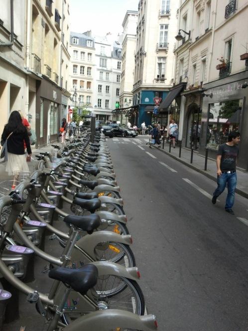Depot öffentlicher Fahrräder