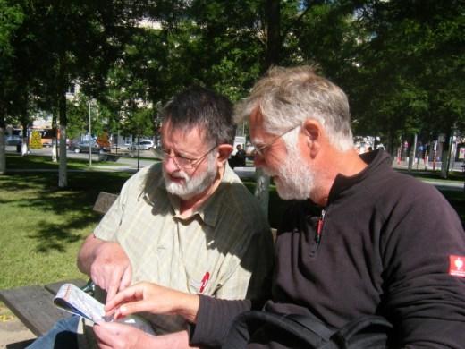 Diskussion über Stadtplan
