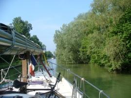 die letzten Kilometer im Canal de Bourgogne