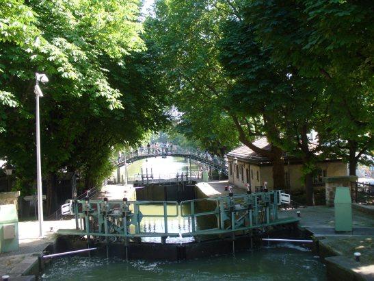 Schleusen im Canal Saint Martin