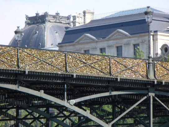 Passerelle Solferino mit Love Locks