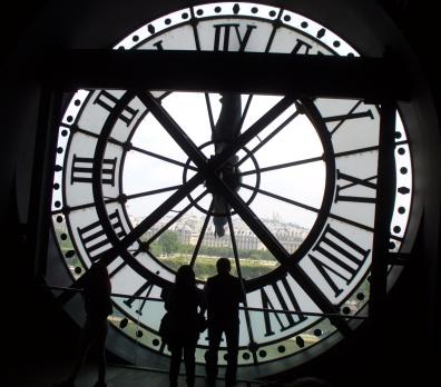 Musée d'Orsay, Blick durch die Uhr auf Paris