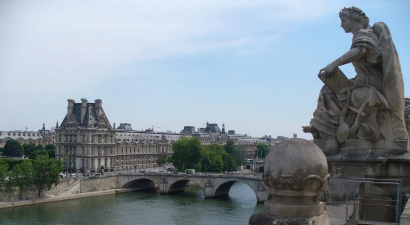 Blick vom Musée d'Orsay auf Louvre