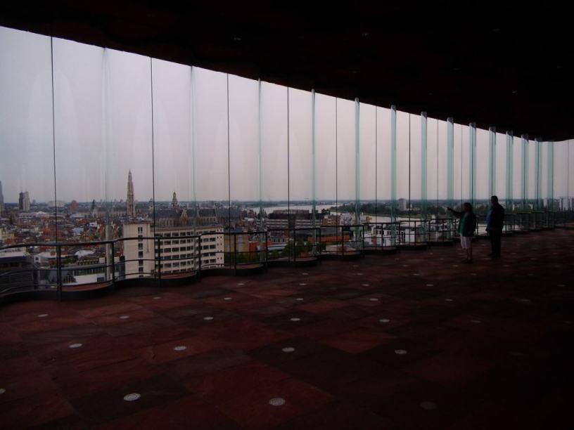 Blick über Antwerpen aus dem MAS
