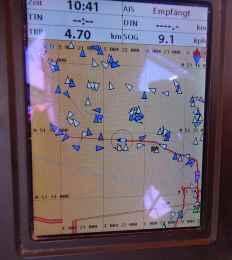 AIS-Signale im Hafen Antwerpen
