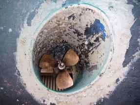 saubere Bugschraube im alten Gammel