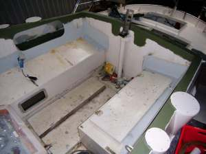 Vorbereitungen zum Malen des Cockpits