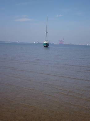 Ansicht von der nächsten Sandbank aus